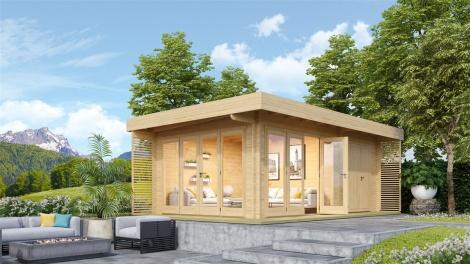 Garden lounge model  with storage Konrad 70 | 6.5 x 4.0 m ( 21'4'' X 13'1'') 70mm