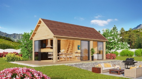 Outdoor Kitchen Lounge MAREK 70 | 8 x 4.6 m (26'5'' x 15'1'') 70 mm
