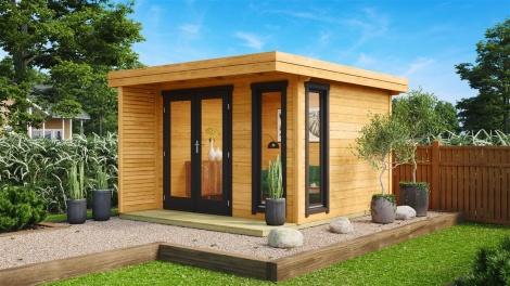 Compact Garden Room Monaco 44 | 3x3m (9'10''x9'10'') 44mm