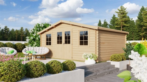 NEW! | Classical Garden Shed RIA 28 | 4.8x3.7m (16'1''x12'1'') 28 mm